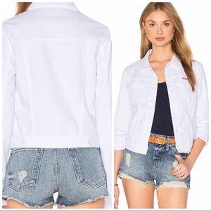 Hudson Jeans Signature Denim Jacket White Medium